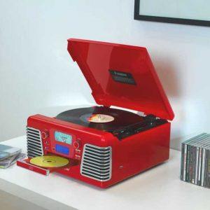 giradiscos rojo vintage