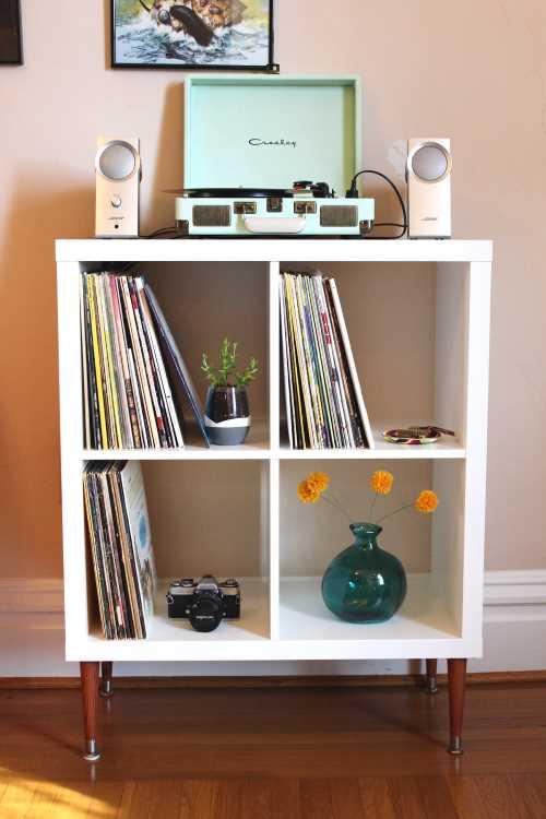 Los mejores muebles para tocadiscos y vinilos tocata y buga - Mueble cd ikea ...