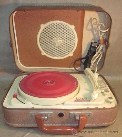 tocadiscos años 50 maleta