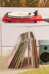 tocadiscos rojo mesa